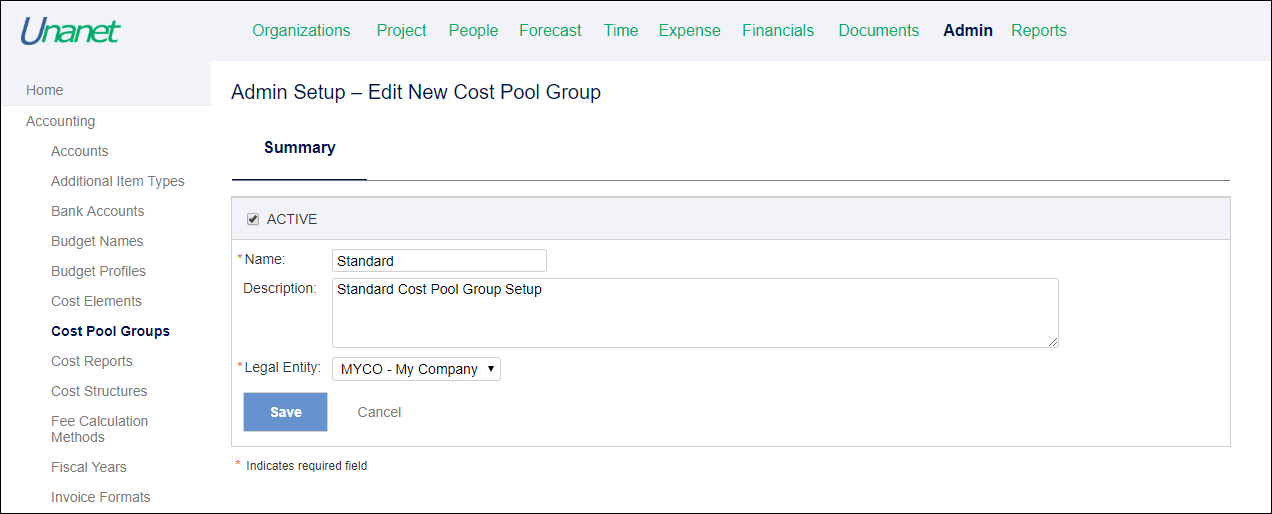 Project Accounting Instructional Guide - Project Costing