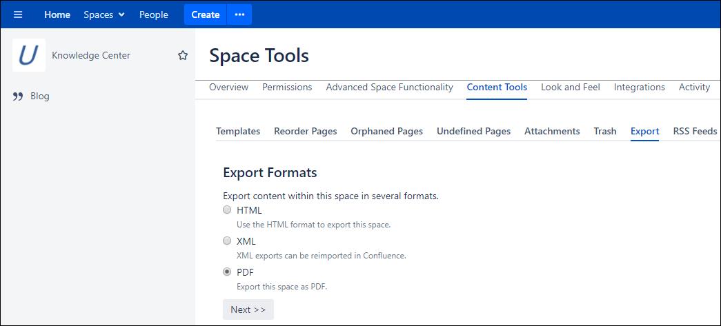 Quick Topic - Exporting KC Pages to PDF - Knowledge Center